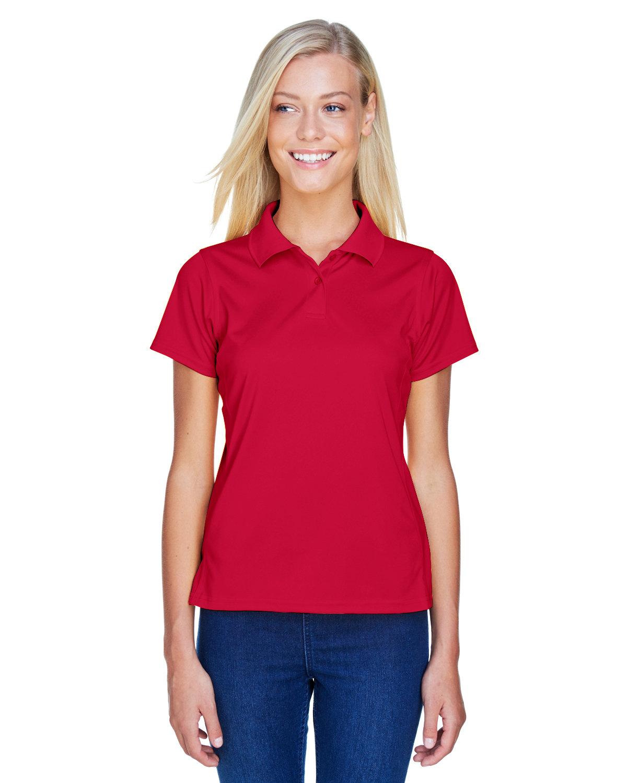 Harriton Ladies' 4 oz. Polytech Polo RED