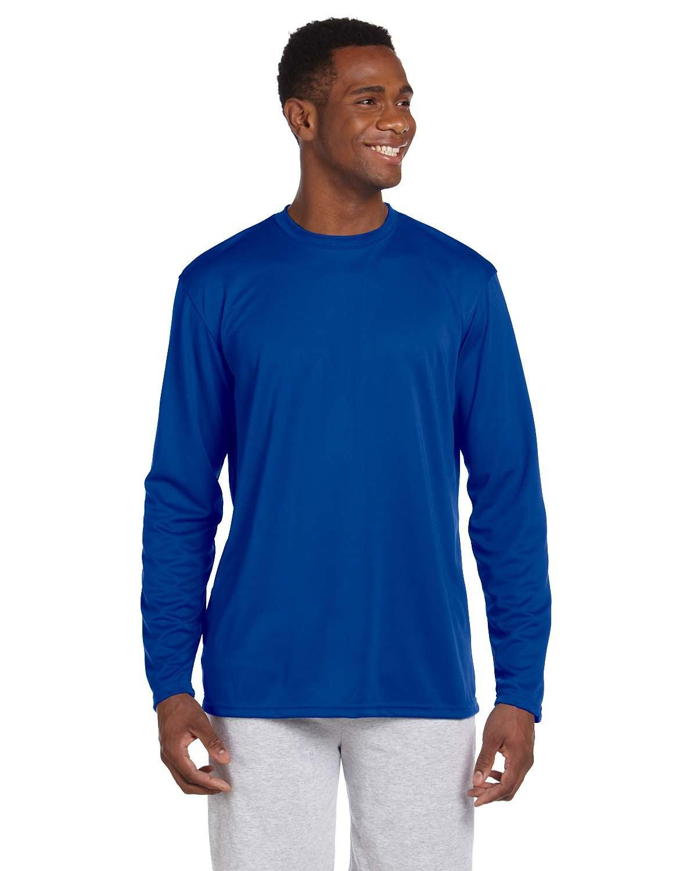 Harriton Adult 4.2 oz. Athletic Sport Long-Sleeve T-Shirt TRUE ROYAL