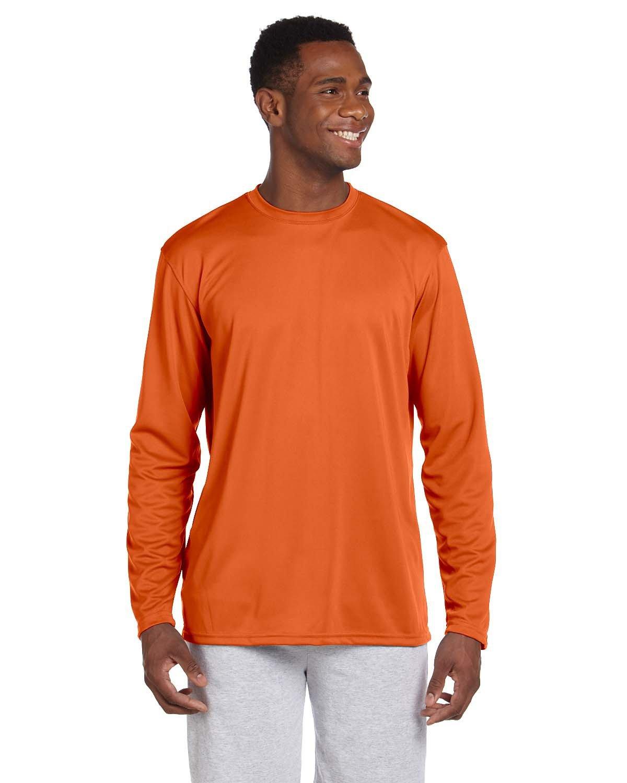 Harriton Adult 4.2 oz. Athletic Sport Long-Sleeve T-Shirt TEAM ORANGE