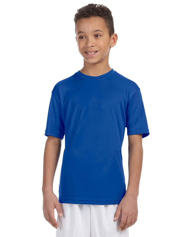 Harriton Youth 4.2 oz. Athletic Sport T-Shirt TRUE ROYAL