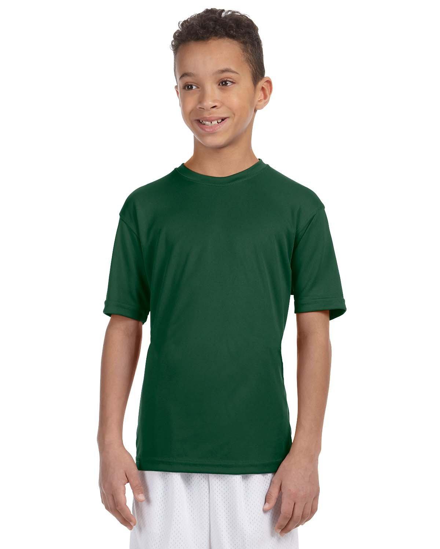 Harriton Youth 4.2 oz. Athletic Sport T-Shirt DARK GREEN