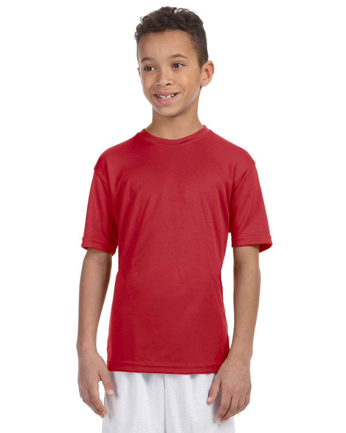 Harriton Youth 4.2 oz. Athletic Sport T-Shirt RED