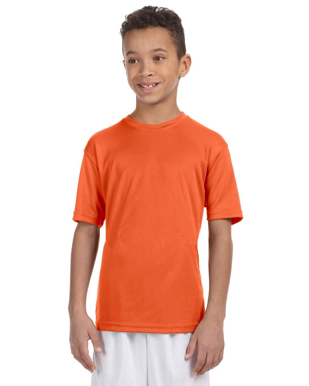 Harriton Youth 4.2 oz. Athletic Sport T-Shirt TEAM ORANGE