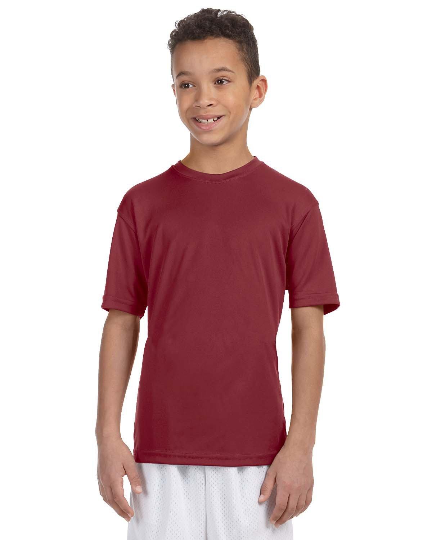 Harriton Youth 4.2 oz. Athletic Sport T-Shirt MAROON
