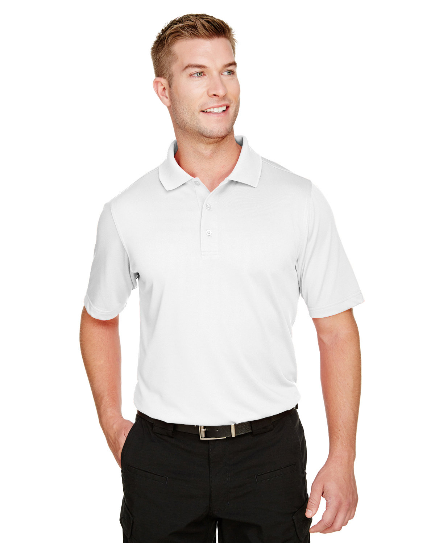 Harriton Men's Advantage Snag Protection Plus IL Polo WHITE