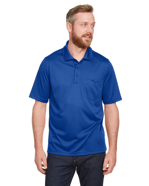 Harriton Men's Advantage Snag Protection Plus IL Pocket Polo TRUE ROYAL