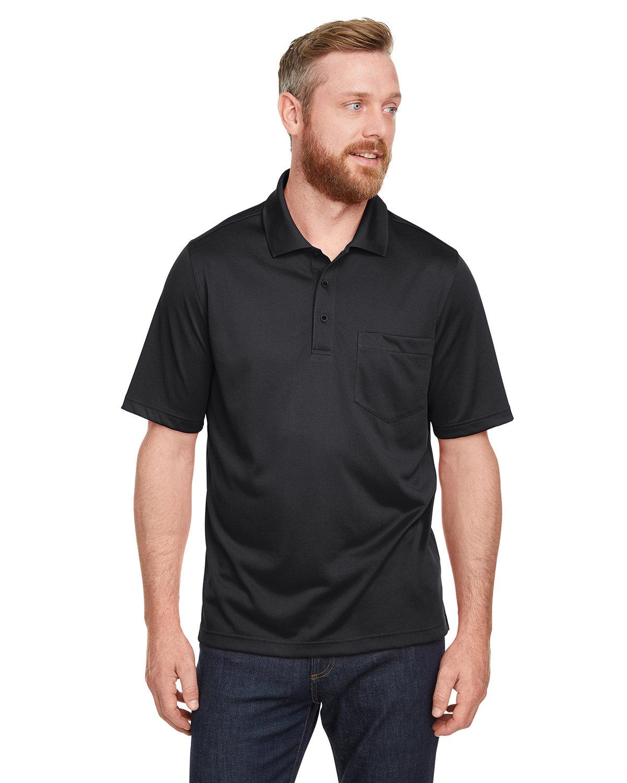 Harriton Men's Advantage Snag Protection Plus IL Pocket Polo BLACK