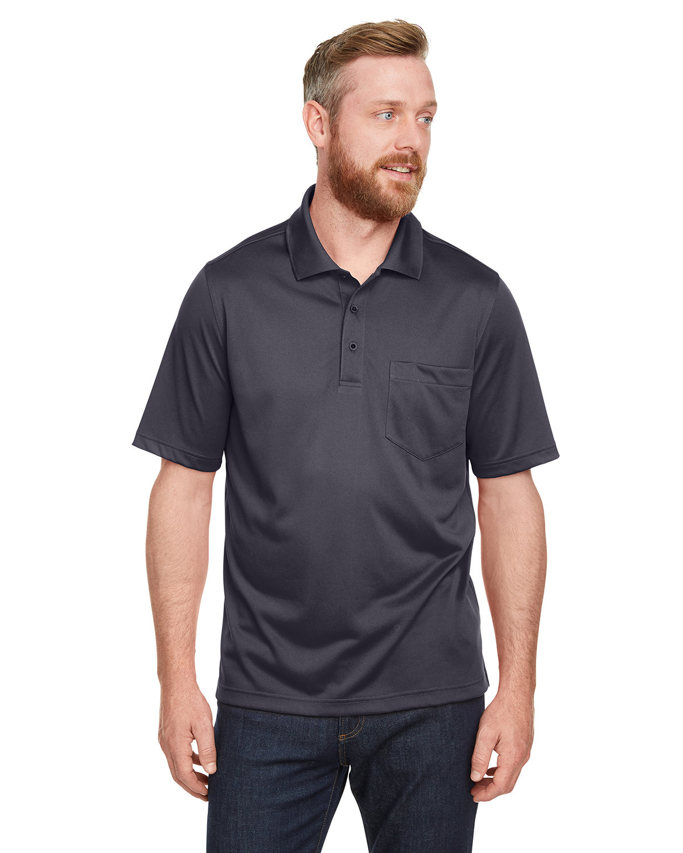 Harriton Men's Advantage Snag Protection Plus IL Pocket Polo DARK CHARCOAL