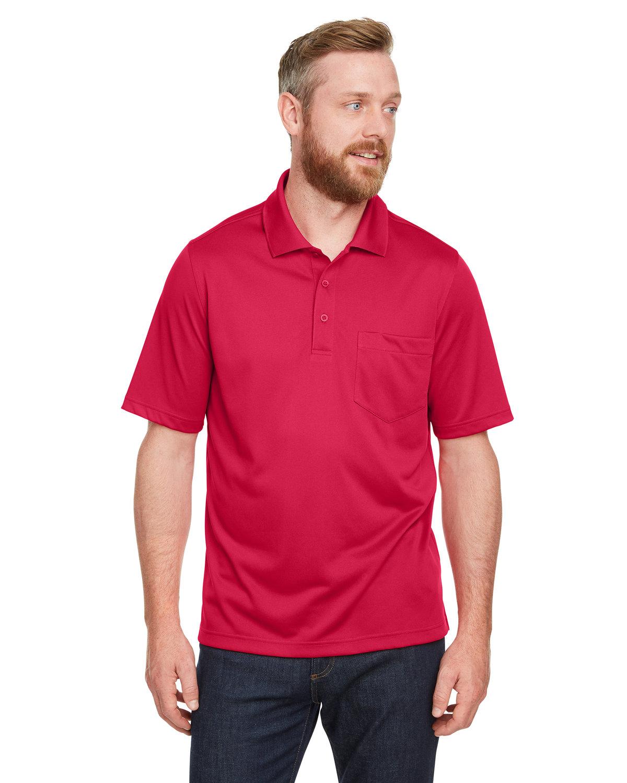 Harriton Men's Advantage Snag Protection Plus IL Pocket Polo RED