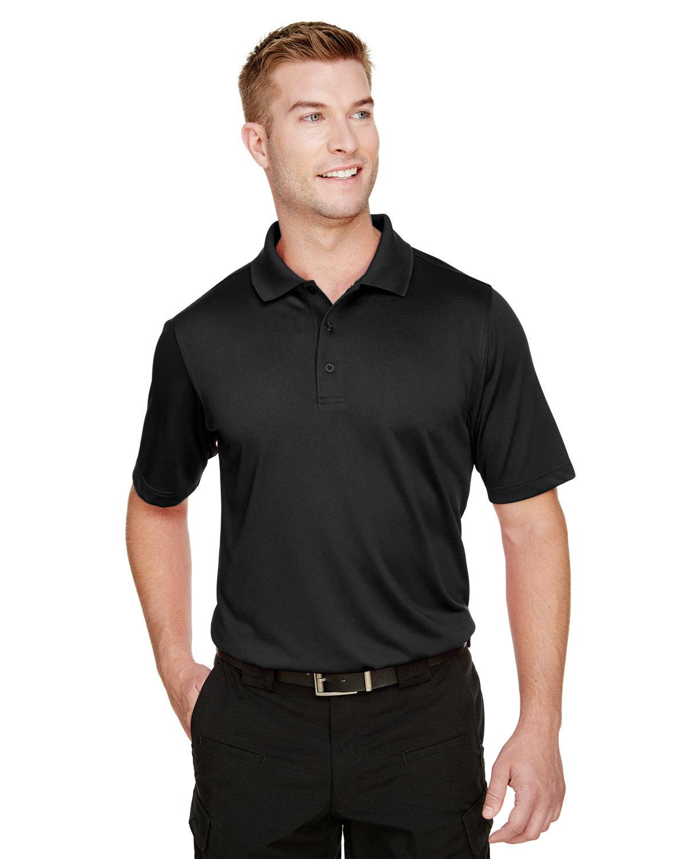 Harriton Men's Tall Advantage Snag Protection Plus IL Polo BLACK