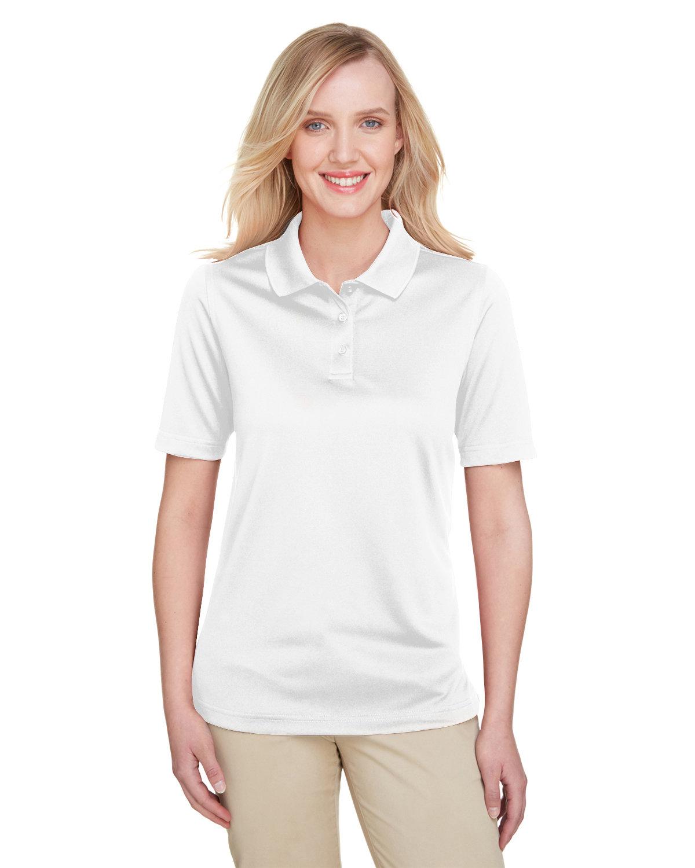 Harriton Ladies' Advantage Snag Protection Plus IL Polo WHITE