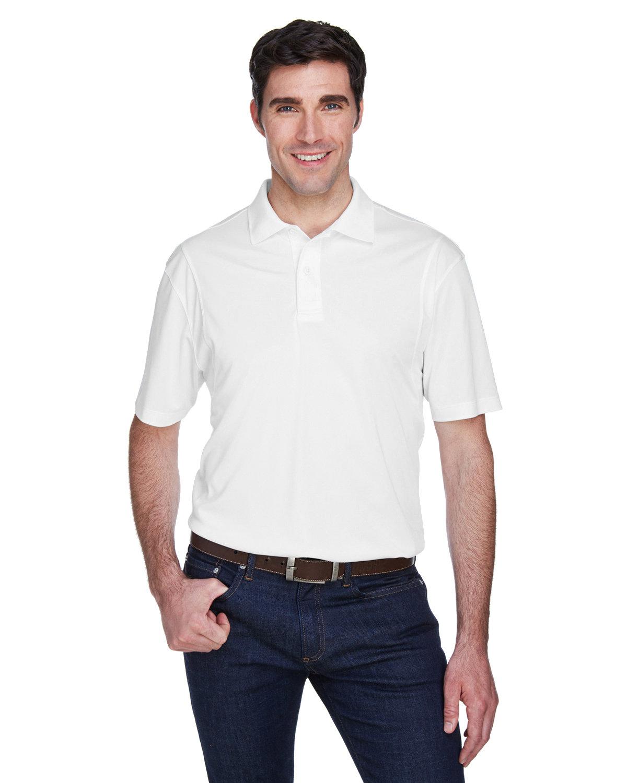 Harriton Men's Micro-Piqué Polo WHITE