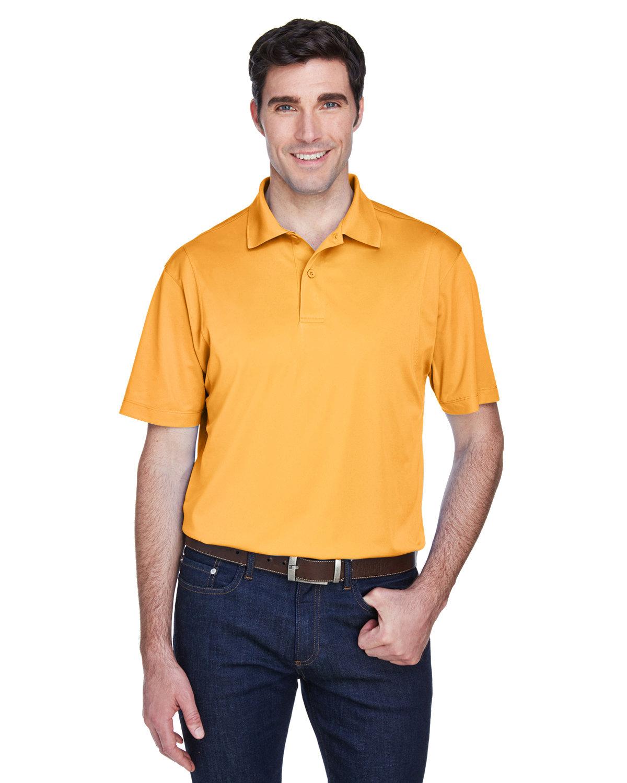 Harriton Men's Micro-Piqué Polo GOLD