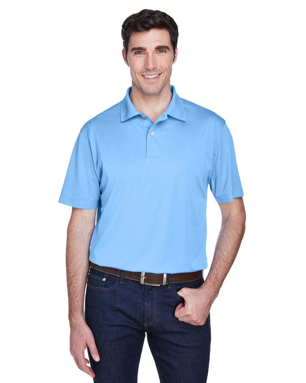 Harriton Men's Micro-Piqué Polo LIGHT BLUE