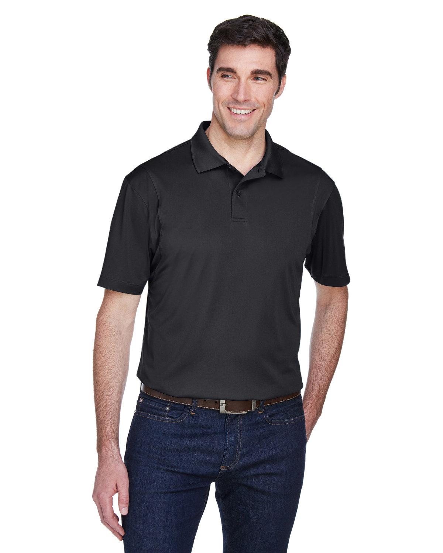 Harriton Men's Micro-Piqué Polo BLACK