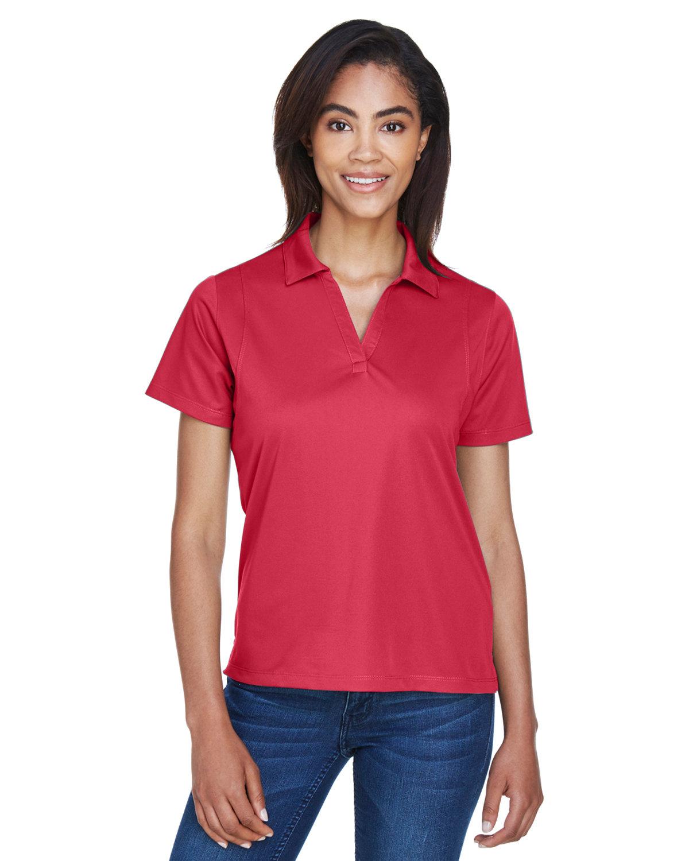 Harriton Ladies' Micro-Piqué Polo RED