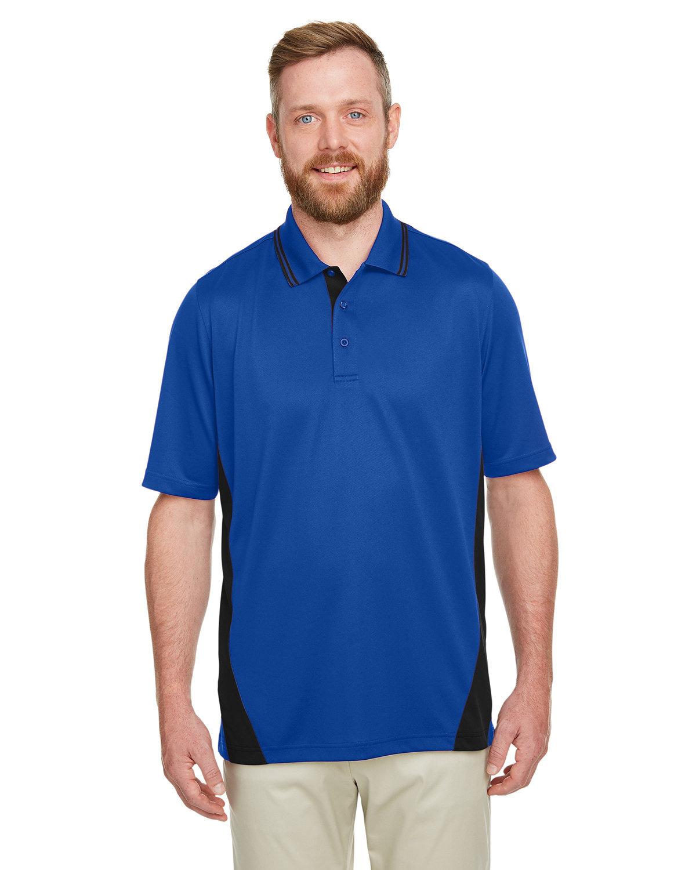 Harriton Men's Flash Snag Protection Plus IL Colorblock Polo TR ROYAL/ BLACK