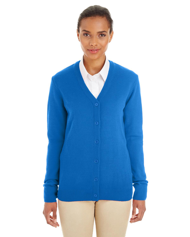 Harriton Ladies' Pilbloc™ V-Neck Button Cardigan Sweater TRUE ROYAL