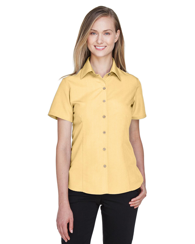 Harriton Ladies' Barbados Textured CampShirt PINEAPPLE