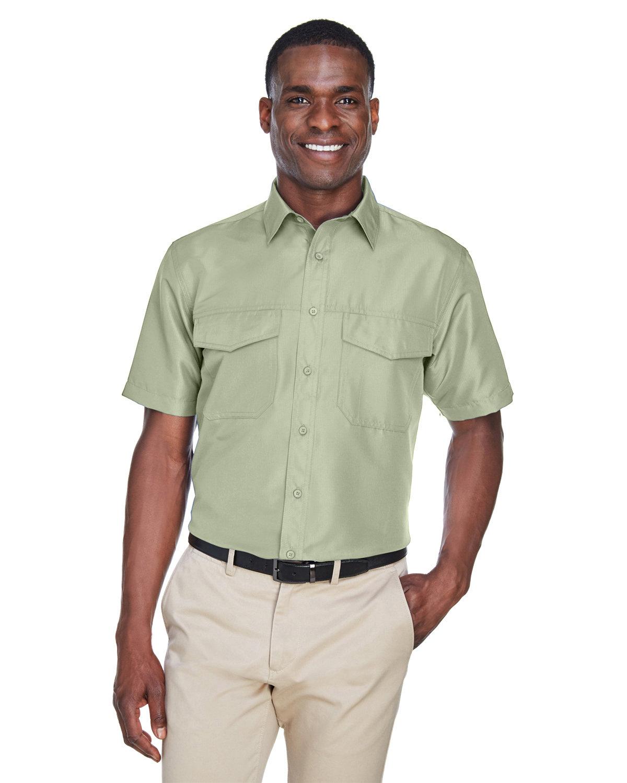 Harriton Men's Key West Short-Sleeve Performance Staff Shirt GREEN MIST