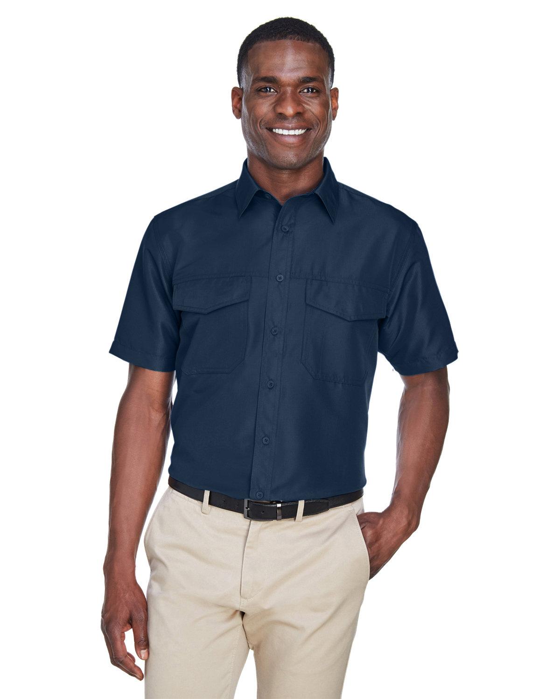 Harriton Men's Key West Short-Sleeve Performance Staff Shirt NAVY