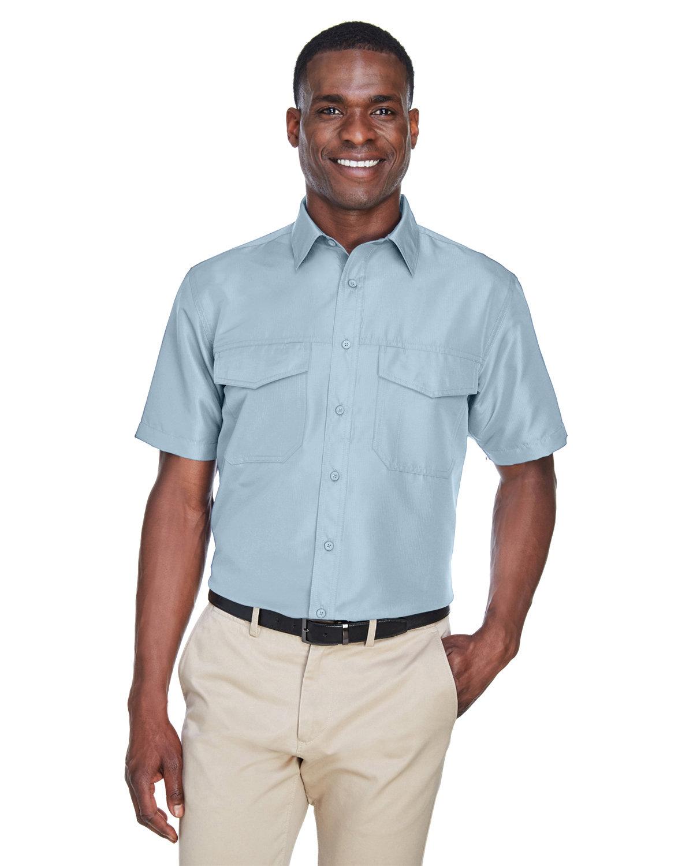 Harriton Men's Key West Short-Sleeve Performance Staff Shirt CLOUD BLUE
