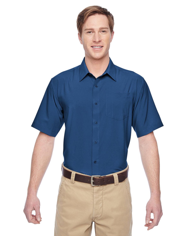 Harriton Men's Paradise Short-Sleeve Performance Shirt POOL BLUE