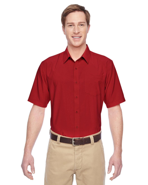 Harriton Men's Paradise Short-Sleeve Performance Shirt PARROT RED
