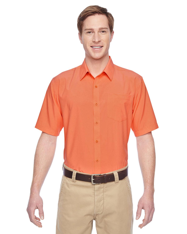 Harriton Men's Paradise Short-Sleeve Performance Shirt NECTARINE