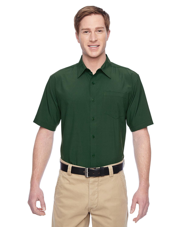 Harriton Men's Paradise Short-Sleeve Performance Shirt PALM GREEN