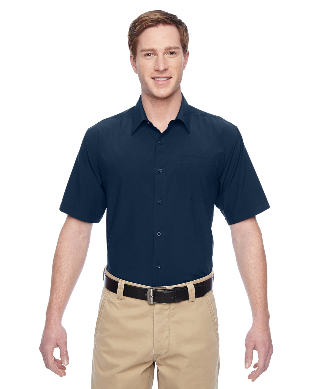 Harriton Men's Paradise Short-Sleeve Performance Shirt NAVY