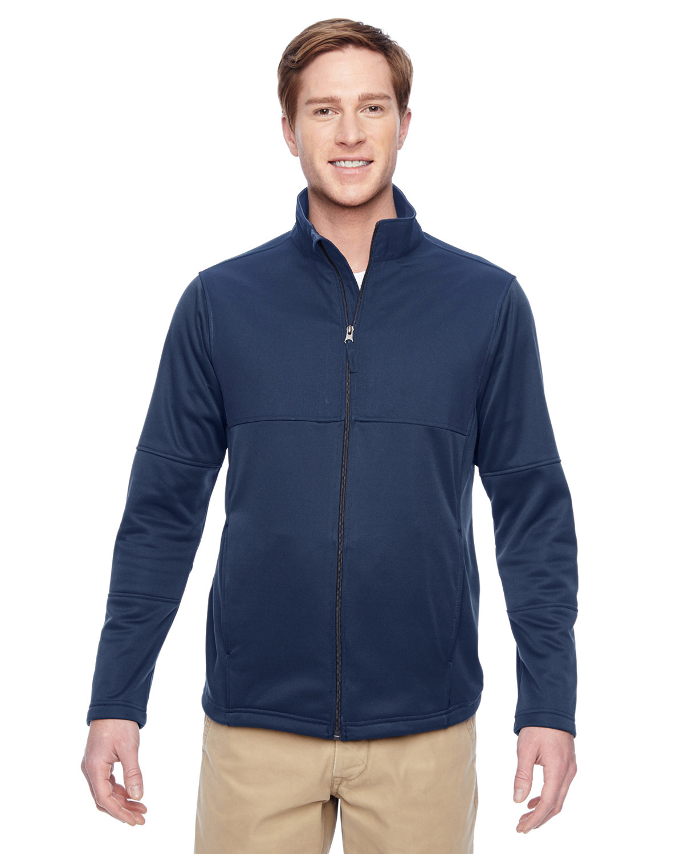 Harriton Men's Task Performance Fleece Full-Zip Jacket DARK NAVY