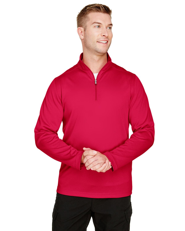 Harriton Men's Advantage Snag Protection Plus IL Quarter-Zip RED
