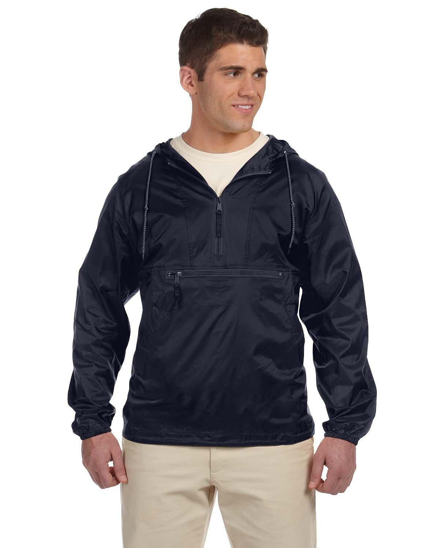 Harriton Adult Packable Nylon Jacket NAVY