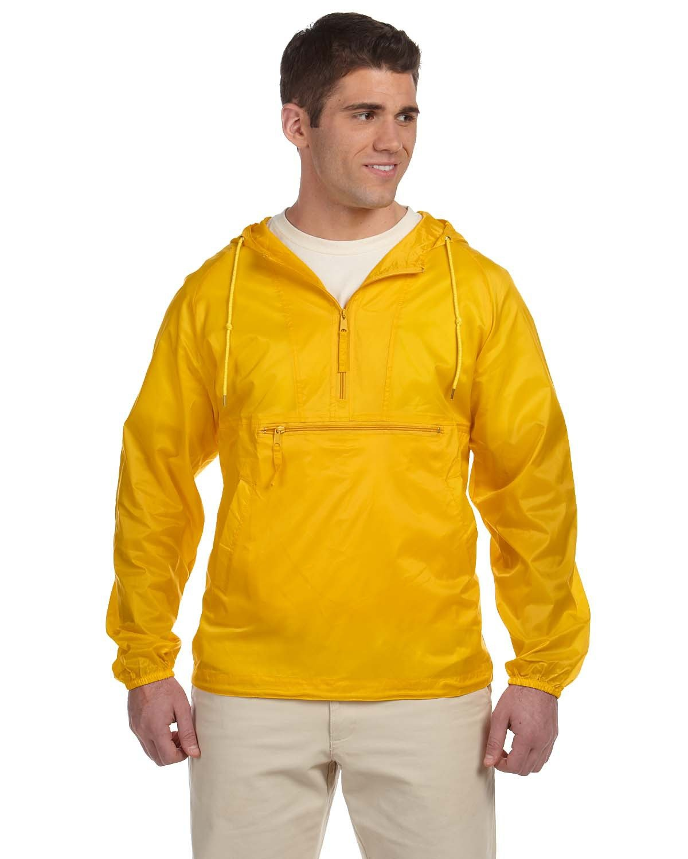 Harriton Adult Packable Nylon Jacket SUNRAY YELLOW