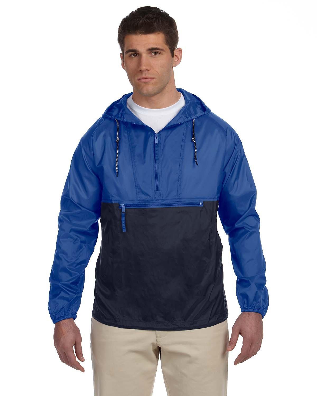 Harriton Adult Packable Nylon Jacket ROYAL/ NAVY