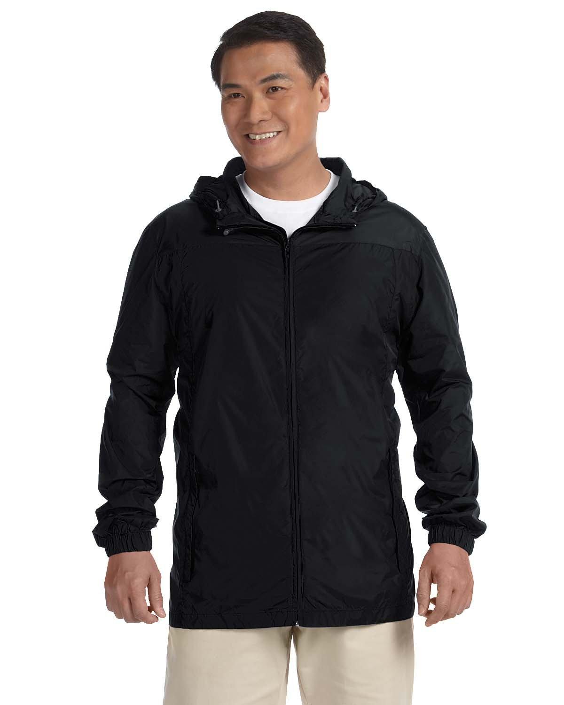 Harriton Men's Essential Rainwear BLACK