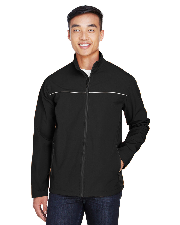 Harriton Men's Echo Soft Shell Jacket BLACK