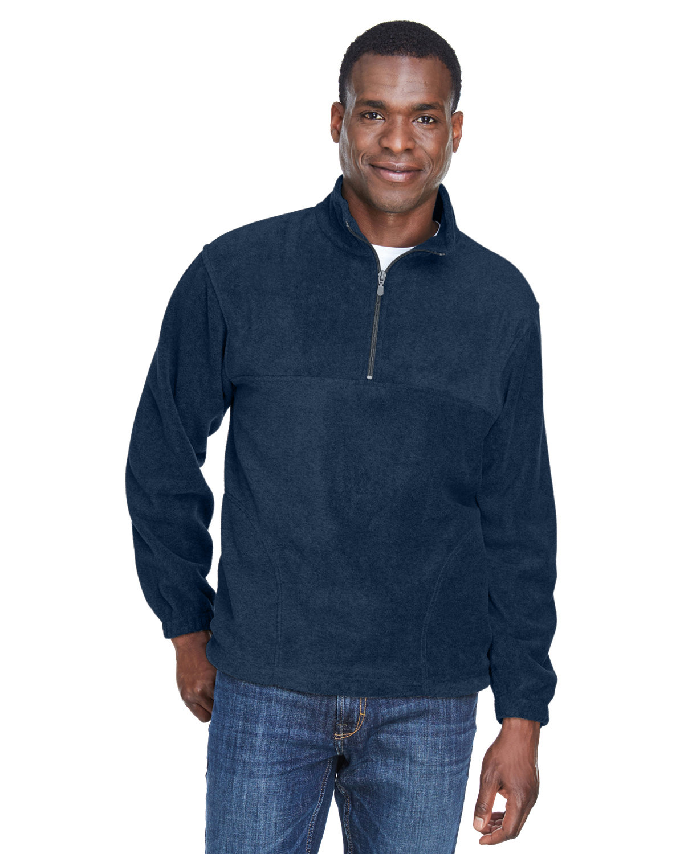 Harriton Adult 8 oz. Quarter-Zip Fleece Pullover NAVY