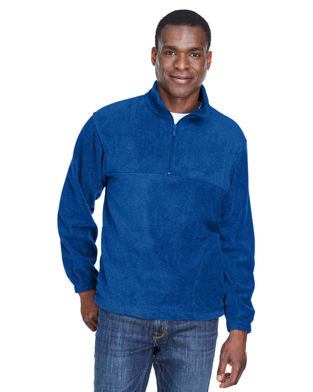Harriton Adult 8 oz. Quarter-Zip Fleece Pullover TRUE ROYAL