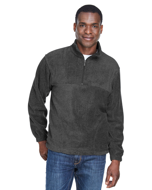 Harriton Adult 8 oz. Quarter-Zip Fleece Pullover CHARCOAL