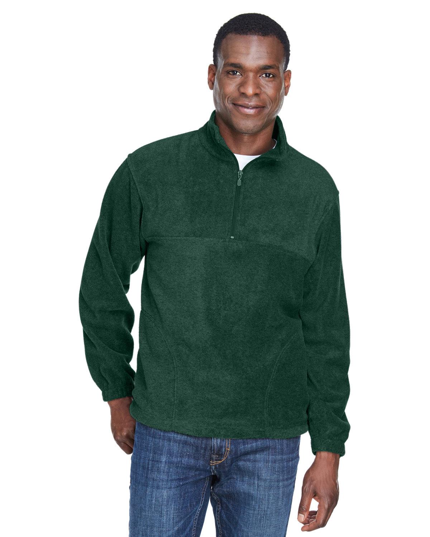 Harriton Adult 8 oz. Quarter-Zip Fleece Pullover HUNTER