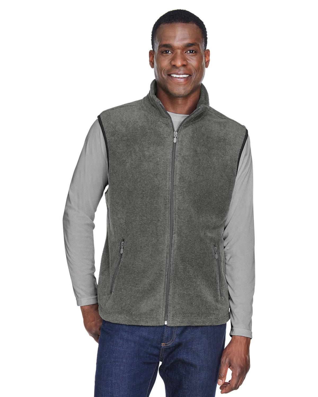 Harriton Adult 8 oz. Fleece Vest CHARCOAL