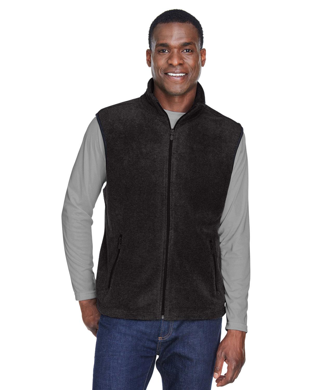 Harriton Adult 8 oz. Fleece Vest BLACK