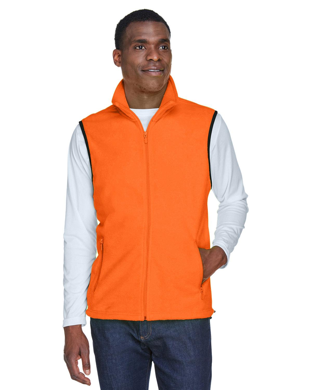 Harriton Adult 8 oz. Fleece Vest SAFETY ORANGE