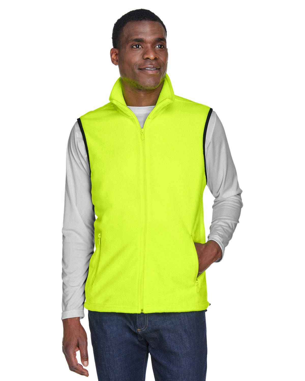 Harriton Adult 8 oz. Fleece Vest SAFETY YELLOW
