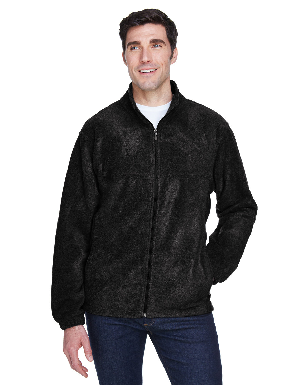Harriton Men's 8 oz. Full-Zip Fleece BLACK
