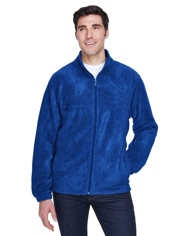 Harriton Men's 8 oz. Full-Zip Fleece TRUE ROYAL