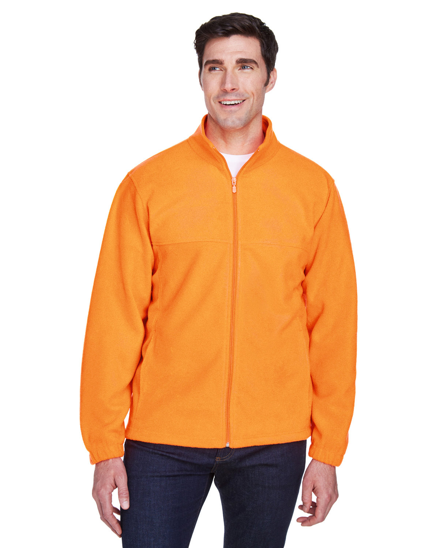 Harriton Men's 8 oz. Full-Zip Fleece SAFETY ORANGE