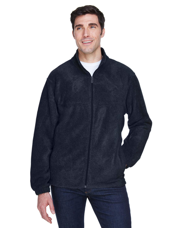 Harriton Men's Tall 8 oz. Full-Zip Fleece NAVY